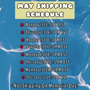 SHIPPING SCHEDULE🚚
